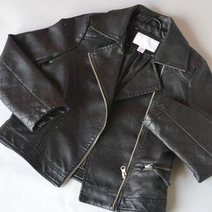 Xhilaration Motorcycle Style Jacket Kids in Black